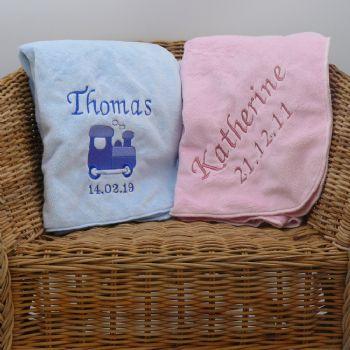 Velboa Plush Baby Blankets